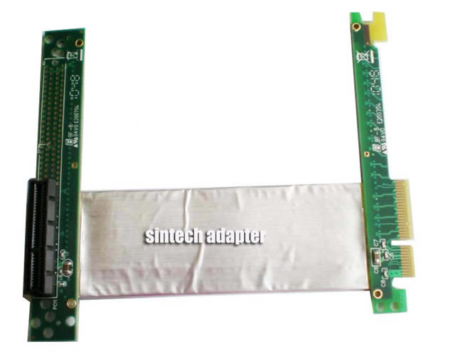 ST8017B PCI-E express X4 riser card with high speed flexible cable