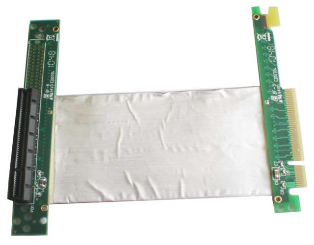 ST8018B PCI-E express X8 riser card with high speed flexible cable