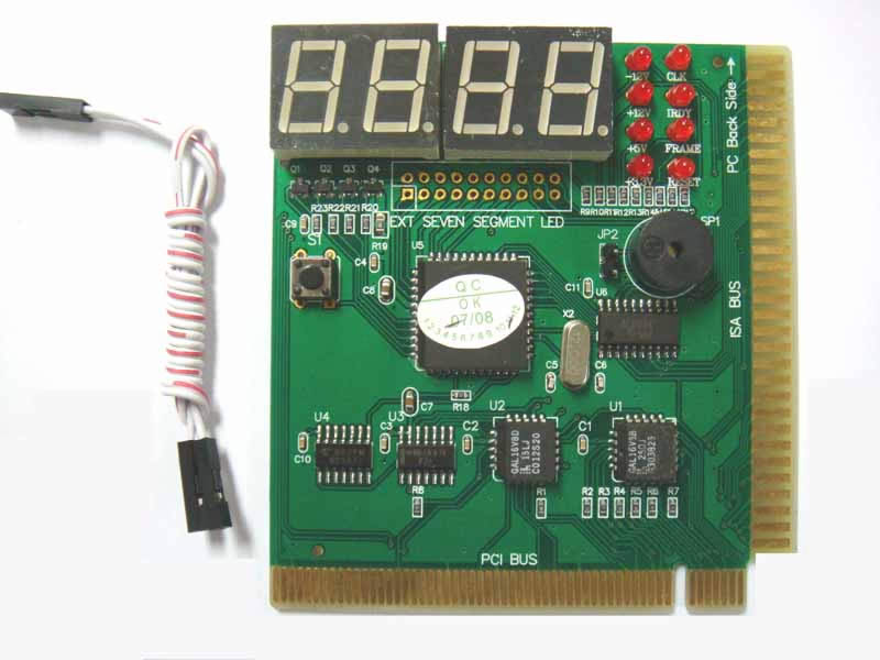 ST8667 PCI and ISA 4bits diagnostic post card for Desk pc