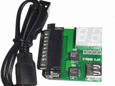 ST8668 LPT port 2 bit diagnostic card for Desk pc and notebook