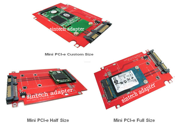 SINTECH SATA adapter for Mini PCI-e SATA SSD from Asus EEE PC 900//900A//901 Case